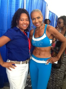 Pickett Fences Founder with Ernestine Shepherd